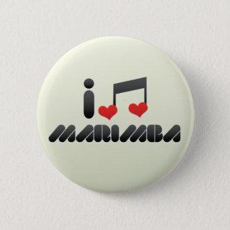 Bóton Redondo 5.08cm Eu amo o Marimba