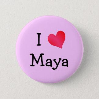 Bóton Redondo 5.08cm Eu amo o Maya