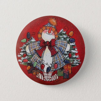 Bóton Redondo 5.08cm Eu amo o Pin do botão do Natal