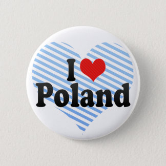 Bóton Redondo 5.08cm Eu amo o Polônia