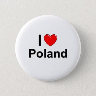 Bóton Redondo 5.08cm Eu amo o Polônia do coração