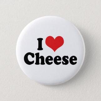 Bóton Redondo 5.08cm Eu amo o queijo do coração - amante da leiteria