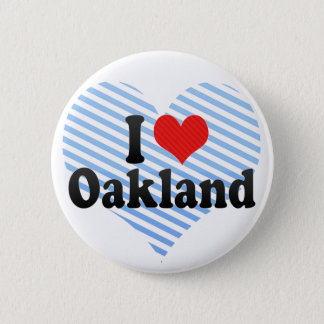 Bóton Redondo 5.08cm Eu amo Oakland