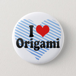 Bóton Redondo 5.08cm Eu amo Origami