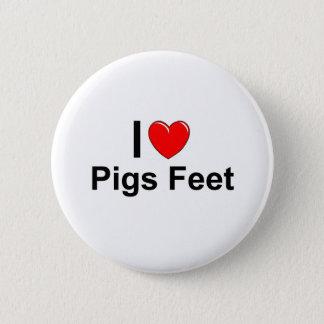 Bóton Redondo 5.08cm Eu amo os pés dos porcos do coração