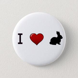 """Bóton Redondo 5.08cm """"Eu amo Pin dos coelhos"""""""