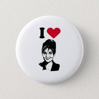 Bóton Redondo 5.08cm Eu amo Sarah Palin