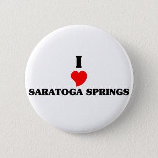 Bóton Redondo 5.08cm Eu amo Saratoga