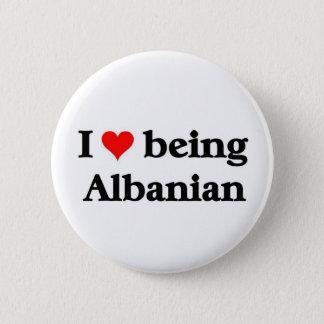 Bóton Redondo 5.08cm Eu amo ser albanês