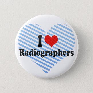 Bóton Redondo 5.08cm Eu amo técnico de radiologia