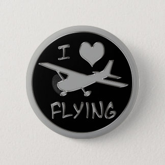 Bóton Redondo 5.08cm Eu amo voar