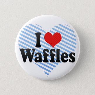 Bóton Redondo 5.08cm Eu amo Waffles