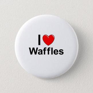 Bóton Redondo 5.08cm Eu amo Waffles do coração