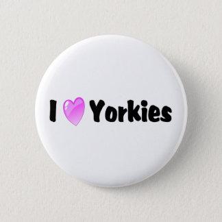 Bóton Redondo 5.08cm Eu amo Yorkies