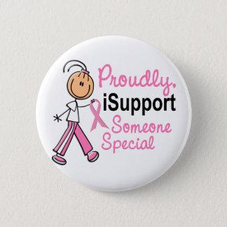 Bóton Redondo 5.08cm Eu apoio alguém presentes especiais do cancro da