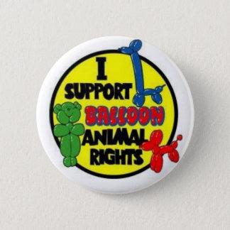 Bóton Redondo 5.08cm Eu apoio o botão de direitos de Animial do balão