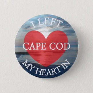 Bóton Redondo 5.08cm Eu deixei meu coração no botão da imagem de Cape