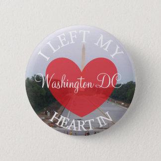 Bóton Redondo 5.08cm Eu deixei meu coração no botão do Washington DC