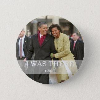 Bóton Redondo 5.08cm EU ESTAVA LÁ: Presidente Barack e Michelle Obama