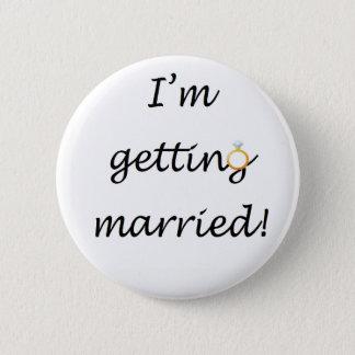 """Bóton Redondo 5.08cm """"Eu estou casando-me!"""" Crachá padrão"""