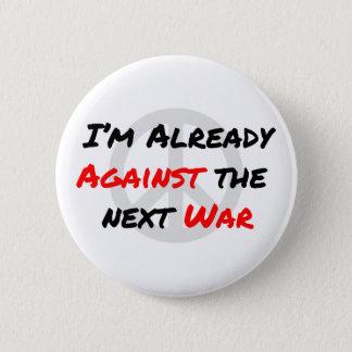 Bóton Redondo 5.08cm Eu estou já contra a guerra