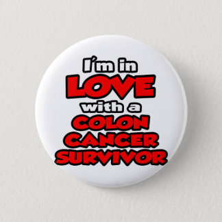 Bóton Redondo 5.08cm Eu estou no amor com um sobrevivente do cancro do