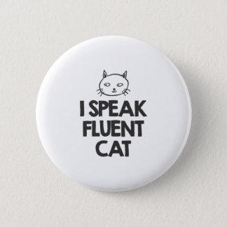 Bóton Redondo 5.08cm Eu falo o gato fluente