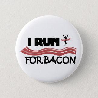 Bóton Redondo 5.08cm Eu funciono para o bacon - botão do Pin