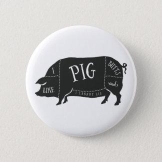 Bóton Redondo 5.08cm Eu gosto de bumbuns do porco e eu não posso