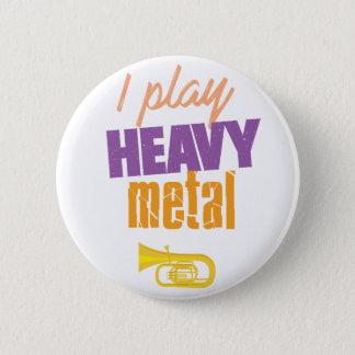 Bóton Redondo 5.08cm Eu jogo o jogador engraçado da tuba do metal
