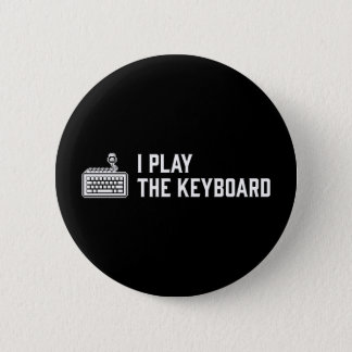 Bóton Redondo 5.08cm Eu jogo o teclado