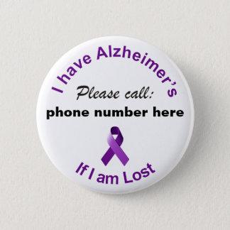Bóton Redondo 5.08cm Eu mando Alzheimer por favor chamar se eu sou