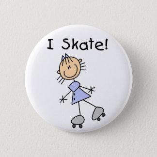Bóton Redondo 5.08cm Eu patino figura botão da vara