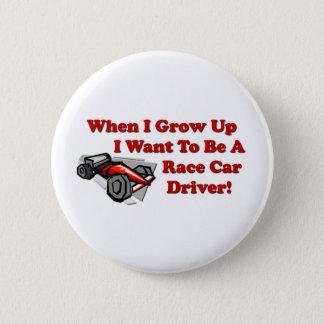 Bóton Redondo 5.08cm Eu quero ser um motorista de carro de corridas