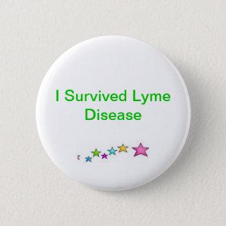Bóton Redondo 5.08cm Eu sobrevivi à doença de Lyme