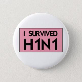 Bóton Redondo 5.08cm Eu sobrevivi a H1N1