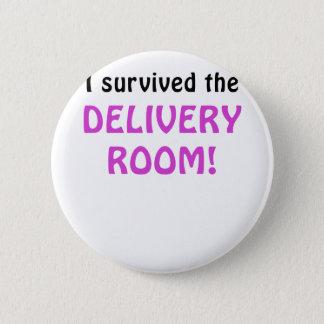 Bóton Redondo 5.08cm Eu sobrevivi à sala de entrega
