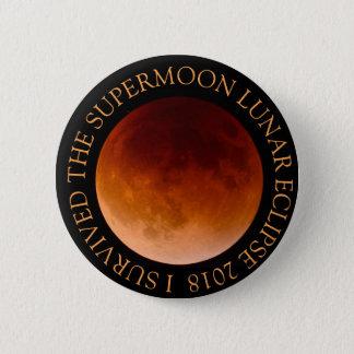 Bóton Redondo 5.08cm Eu sobrevivi ao botão do eclipse lunar 2018 de
