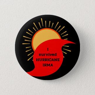 Bóton Redondo 5.08cm Eu sobrevivi ao furacão Irma