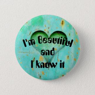Bóton Redondo 5.08cm Eu sou botão bonito
