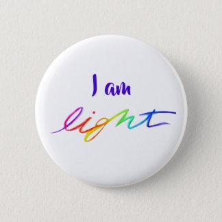 Bóton Redondo 5.08cm Eu sou botões inspirados leves do Pin da palavra