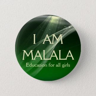 Bóton Redondo 5.08cm Eu sou educação de Malala para todas as meninas