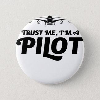 Bóton Redondo 5.08cm Eu sou um piloto