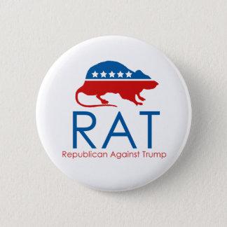 Bóton Redondo 5.08cm Eu sou um R.A.T: Republicano contra o trunfo