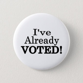 Bóton Redondo 5.08cm Eu tenho votado já