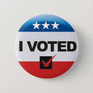 Bóton Redondo 5.08cm Eu votei o dia da eleição 2016 simples,