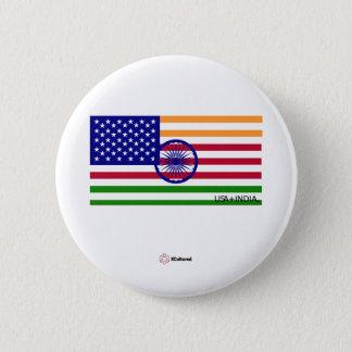 Bóton Redondo 5.08cm EUA e botão da bandeira de India