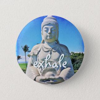 """Bóton Redondo 5.08cm """"Expire"""" o botão branco havaiano da foto de Buddha"""