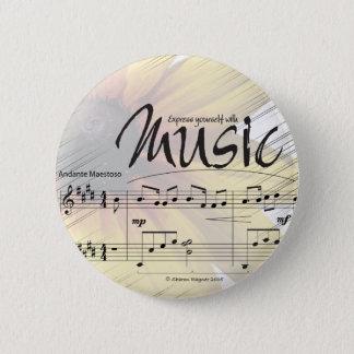 Bóton Redondo 5.08cm Expresse-se com botão da música