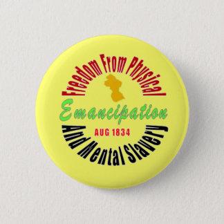 Bóton Redondo 5.08cm Extremidade da emancipação do botão da escravidão